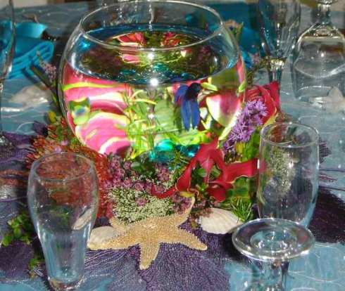 Fish centerpieces staying intouch event style for Fish centerpieces wedding receptions